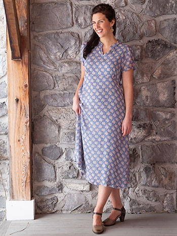 Cornflower Georgette Dress