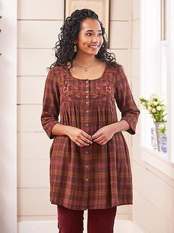 Timber Plaid Tunic Dress