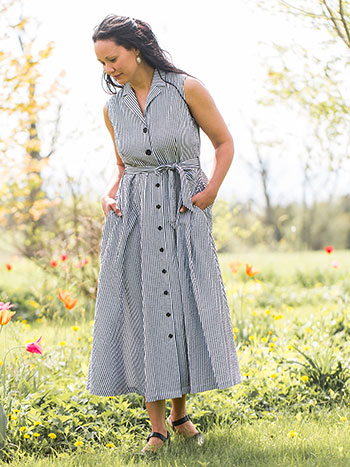 Saratoga Stripe Dress