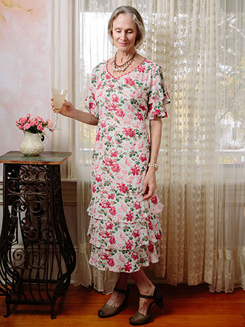 Greta's Garden Flutter Sleeve Dress