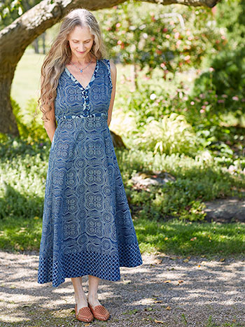 Indigo Circle Getaway Dress