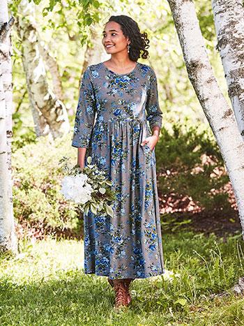 Victorian Rose Jersey Dress