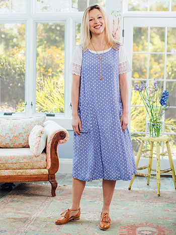 Polly's Polka Dot Pinafore Dress