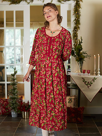 Folk Rose Dress