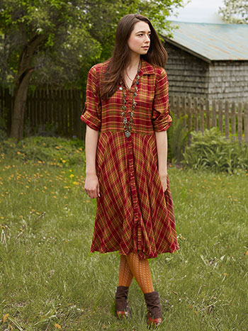 Cozy Cottage Plaid Dress