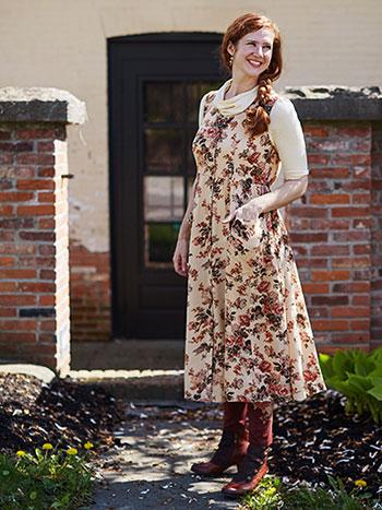Victorian Rose Pinafore Dress