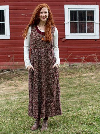 Rosebud Jersey Dress
