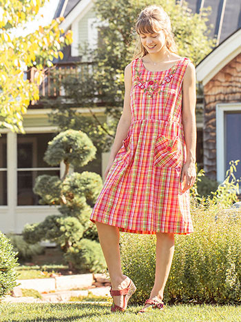 Watermelon Plaid Dress