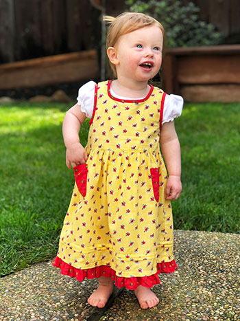 Honey Flower Baby Dress