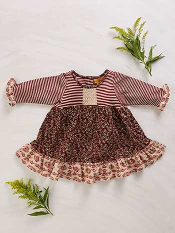 Rosebud Patchwork Baby Dress