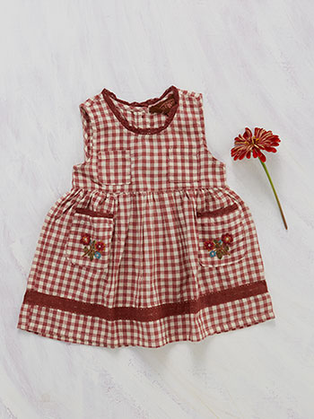 Carolina Check Pinafore Baby Dress