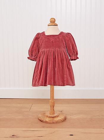 Victorian Velvet Baby Dress
