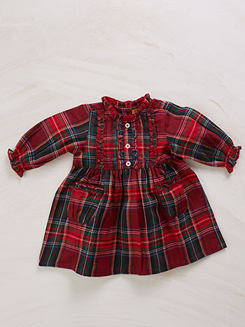Carole Plaid Baby Dress