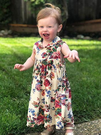 Victorian Rose Baby Dress