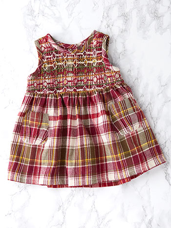 Portland Plaid Baby Dress