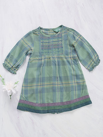 River Plaid Baby Dress