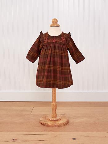 Timber Plaid Baby Dress