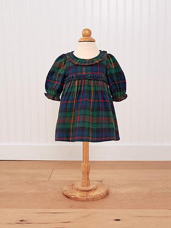 Highland Plaid Baby Dress