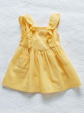 Gingham Check Baby Dress