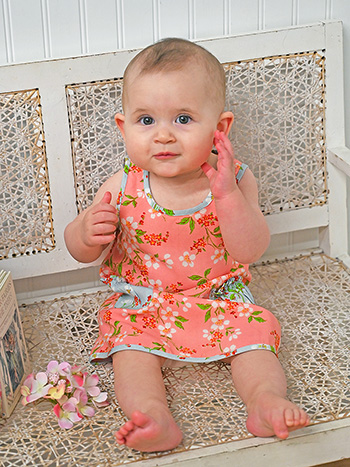 Peach Blossom Baby Dress
