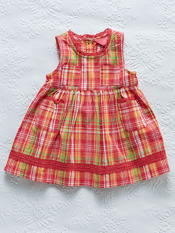 Watermelon Plaid Baby Dress