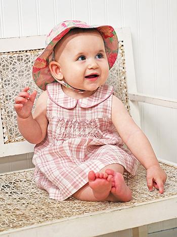 Rosy Linen Baby Dress