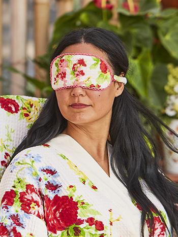 Cottage Rose Honeycomb Eye Mask