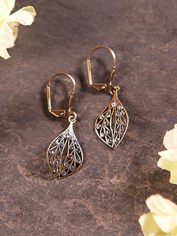 Filagree Leaf Earrings