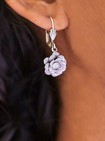 Tiny Rosette Earrings