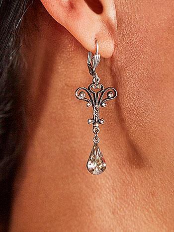 Ellie Silver Shadow Earrings