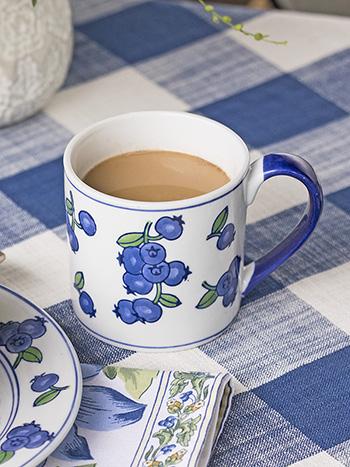 Blueberry Mug Set of 4