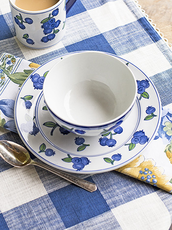 Blueberry Plate Set of 4