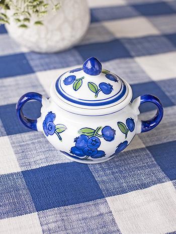 Blueberry Sugar Bowl w Lid