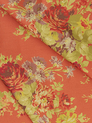 Cottage Rose Outdoor Fabric by the Yard