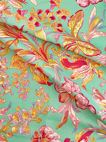 Orchid Study Outdoor Fabric by the Yard