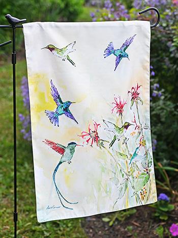 Hummingbird Garden Flag