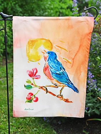 Singing Bird Garden Flag
