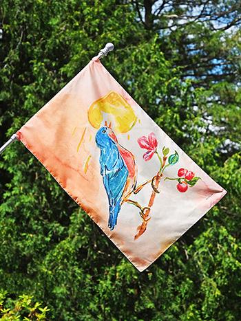 Singing Bird House Flag