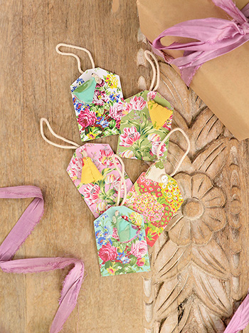 Spring Bouquet Gift Tags Set of 5