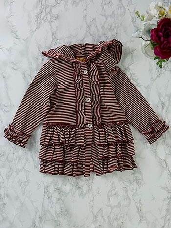 Pippy Stripe Girls Jacket
