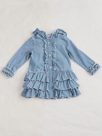 Seaside Stripe Girls Jacket