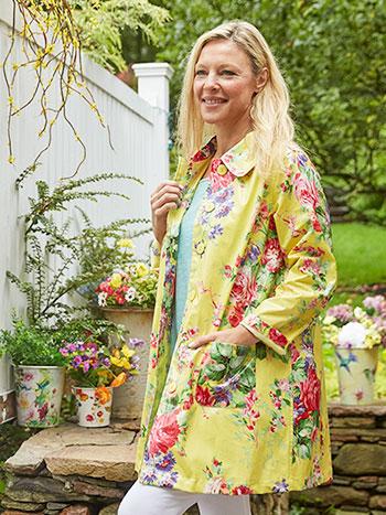 Cottage Rose Rain Jacket