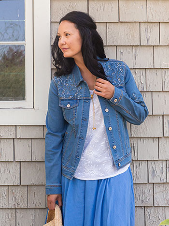 Cottage Paisley Jean Jacket