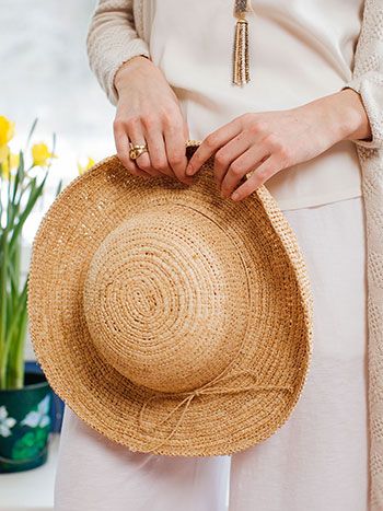 Vacationer Raffia Hat