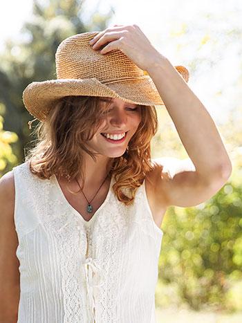 Cowgirl Raffia Hat