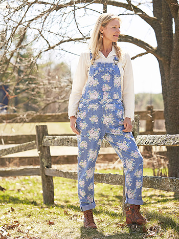 Fall Cottage Denim Overall