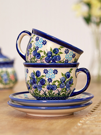 Blueberry Tea Cup- Set of 2
