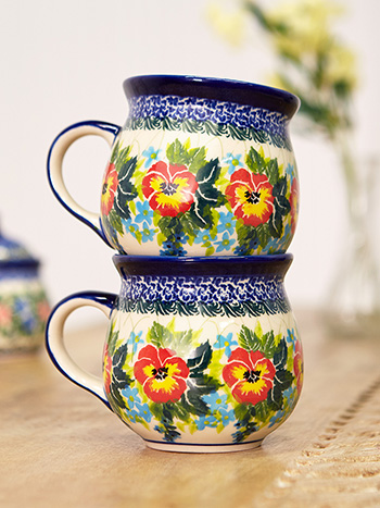 Pansy Bubble Mug- Set of 2