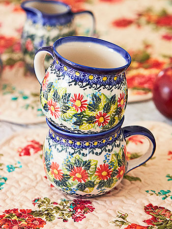 Harvest Daisy Bubble Mug Set of 2