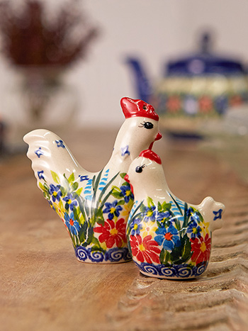Chicken & Rooster Salt & Pepper Set